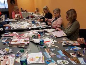 vision journal group creating their vision for the new year